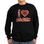 I Love Bacon Sweatshirt (dark)