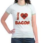 I Love Bacon Jr. Ringer T-Shirt