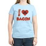 I Love Bacon Women's Light T-Shirt
