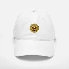 US Navy Veteran Gold Chained Baseball Baseball Cap