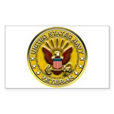 US Navy Veteran Gold Chained Decal