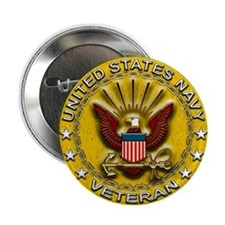 """US Navy Veteran Gold Chained 2.25"""" Button"""