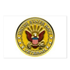 US Navy Veteran Gold Chained Postcards (Package of