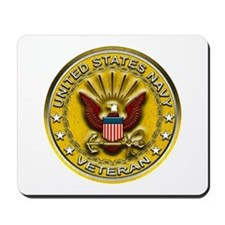 US Navy Veteran Gold Chained Mousepad