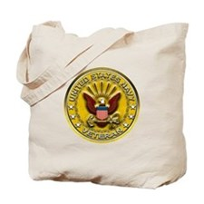 US Navy Veteran Gold Chained Tote Bag