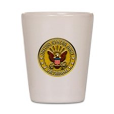 US Navy Veteran Gold Chained Shot Glass