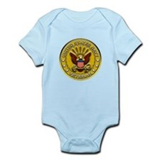 US Navy Veteran Gold Chained Infant Bodysuit