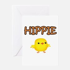 Hippie Chick Greeting Card