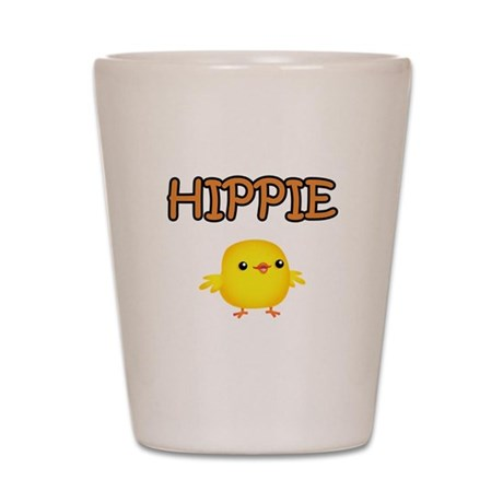 Hippie Chick Shot Glass