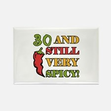 Spicy At 30 Years Old Rectangle Magnet