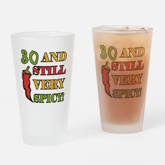Spicy At 30 Years Old Drinking Glass