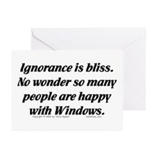 Ignorance/Windows... Greeting Cards (Pk of 10)