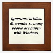 Ignorance/Windows... Framed Tile