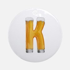 K Beer Round Ornament
