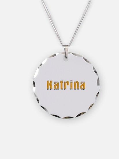 Katrina Beer Necklace Circle Charm