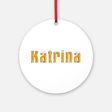 Katrina Beer Round Ornament