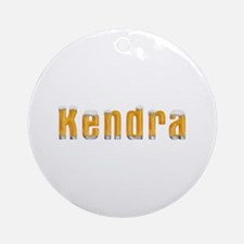 Kendra Beer Round Ornament