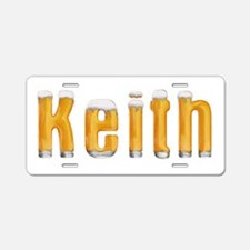 Keith Beer Aluminum License Plate