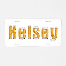 Kelsey Beer Aluminum License Plate