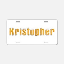 Kristopher Beer Aluminum License Plate