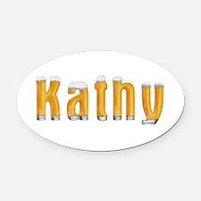 Kathy Beer Oval Car Magnet