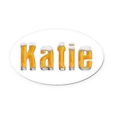 Katie Beer Oval Car Magnet