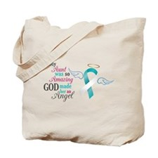 My Aunt An Angel - Cervical Cancer Awareness Tote