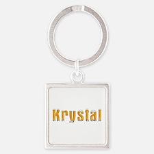 Krystal Beer Square Keychain