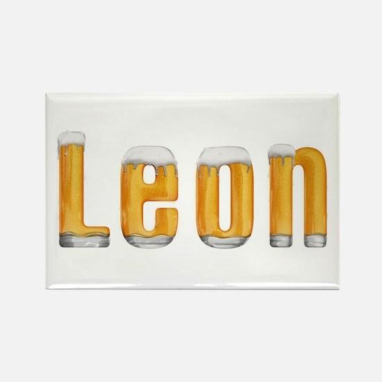 Leon Beer Rectangle Magnet