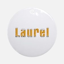 Laurel Beer Round Ornament