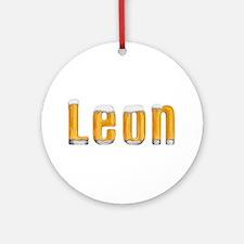 Leon Beer Round Ornament