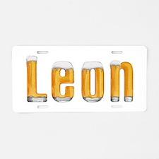 Leon Beer Aluminum License Plate