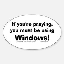 Using Windows... Oval Decal