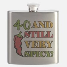 Spicy At 40 Years Old Flask