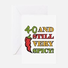Spicy At 40 Years Old Greeting Card