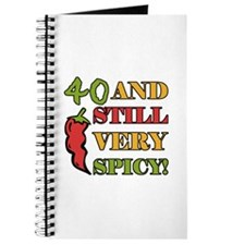 Spicy At 40 Years Old Journal