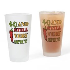 Spicy At 40 Years Old Drinking Glass