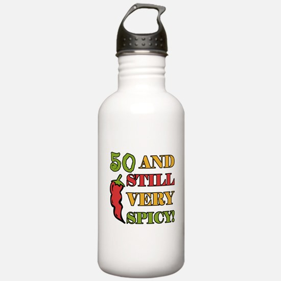 Spicy At 50 Years Old Water Bottle