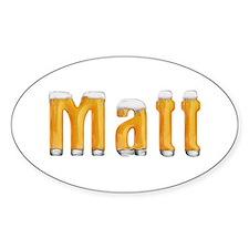 Matt Beer Oval Decal