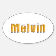 Melvin Beer Oval Decal