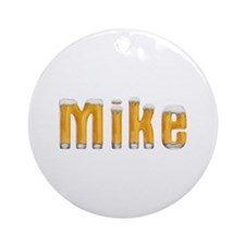 Mike Beer Round Ornament