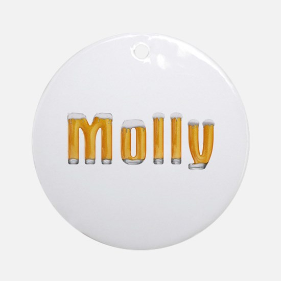Molly Beer Round Ornament