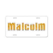 Malcolm Beer Aluminum License Plate