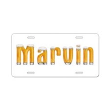 Marvin Beer Aluminum License Plate