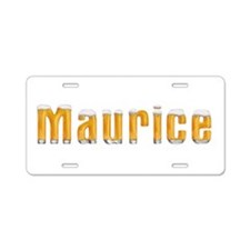 Maurice Beer Aluminum License Plate