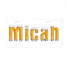 Micah Beer Aluminum License Plate