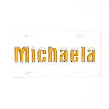 Michaela Beer Aluminum License Plate
