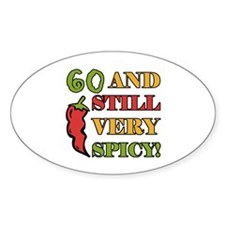 Spicy At 60 Years Old Decal