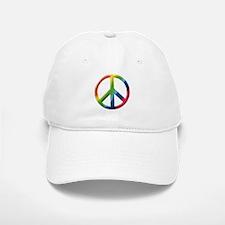 Rainbow Peace Sign Baseball Baseball Cap