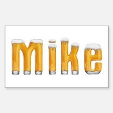 Mike Beer Rectangle Decal